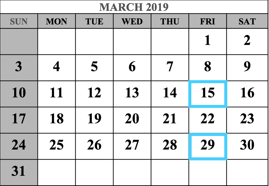 March 2019 MCAT Test Dates