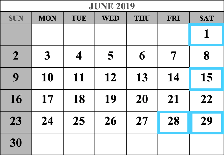 June 2019 MCAT Test Dates