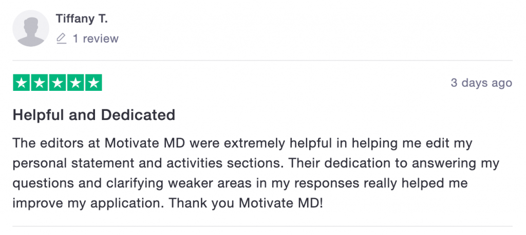 Motivate MD Trustpilot Review